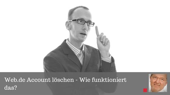 Web De Account löschen