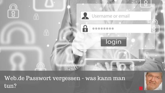 Web de Passwort vergessen