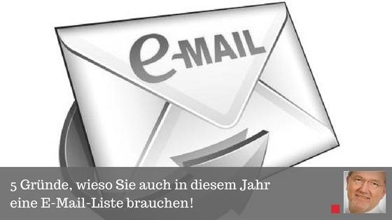 5 Gründe, wieso Sie auch in diesem Jahr eine E-Mail-Liste brauchen - Beitrag