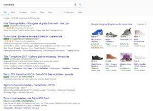 Anzeigen in den Google Suchergebnissen