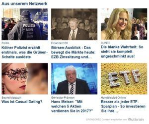 Outbrain Content Empfehlung