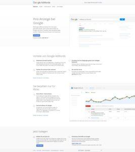 4 Gründe wieso Sie unbedingt eine Landingpage brauchen - Adwords Google